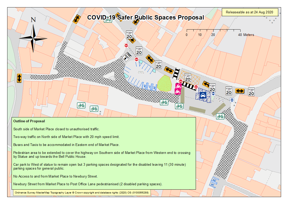 COVID-19 Safer Public Spaces – Market Place Pedestrianisation & Survey
